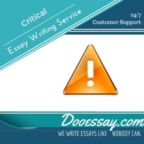 Critical Essay Writing Service