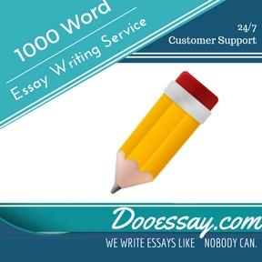 1000 Word Essay Writing Service
