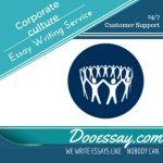 Corporate culture Essay writing service