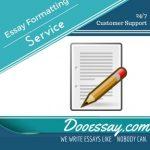 Essay formatting service