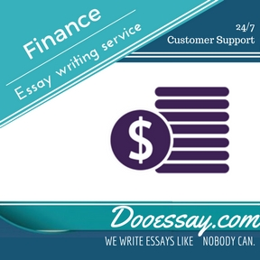 Finance Essay Writing Service