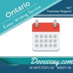 Ontario Essay Writing Service