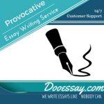Provocative Essay Writing Service