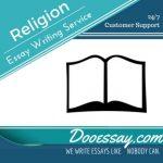 Religion Essay Writing Service