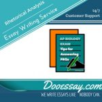 Rhetorical Analysis Essay Writing Service